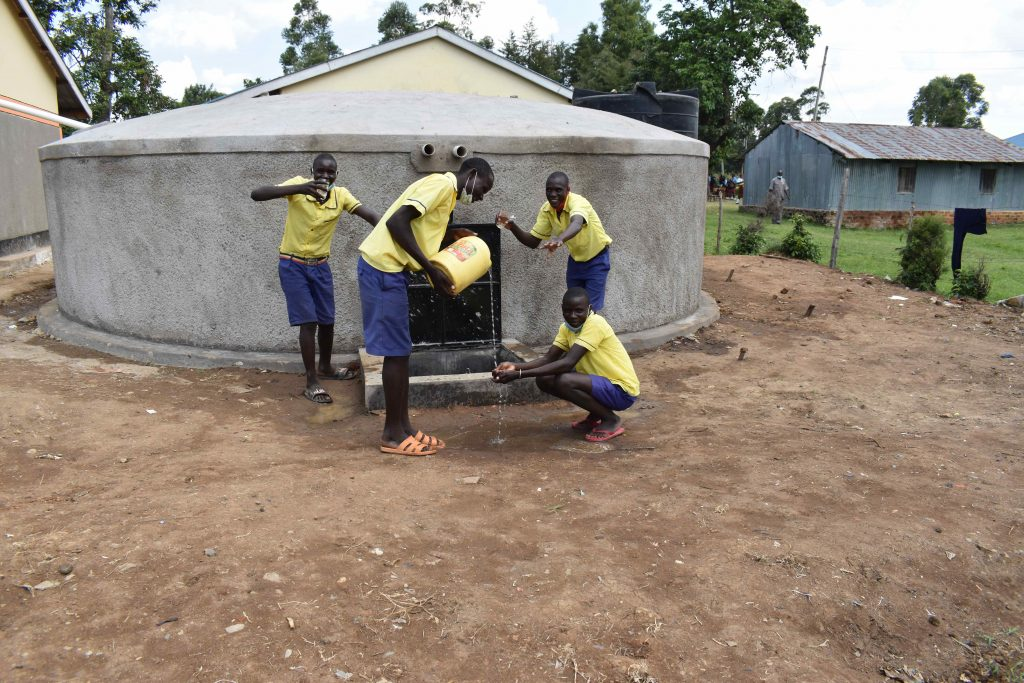 The Water Project : kenya21250-0-boys-goofing-around