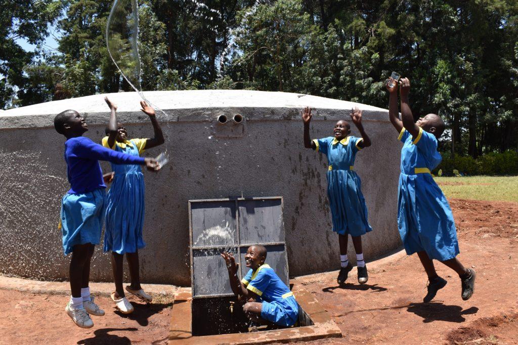 The Water Project : kenya21214-0-celebrating