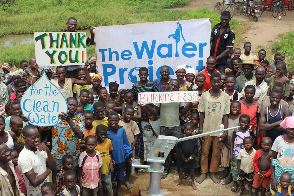 Clean water project in Burkina Faso