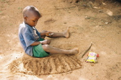 Child Playing in Kenya