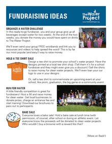 Water Project Fundraising Tips