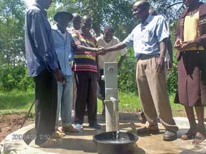 A community received their new well