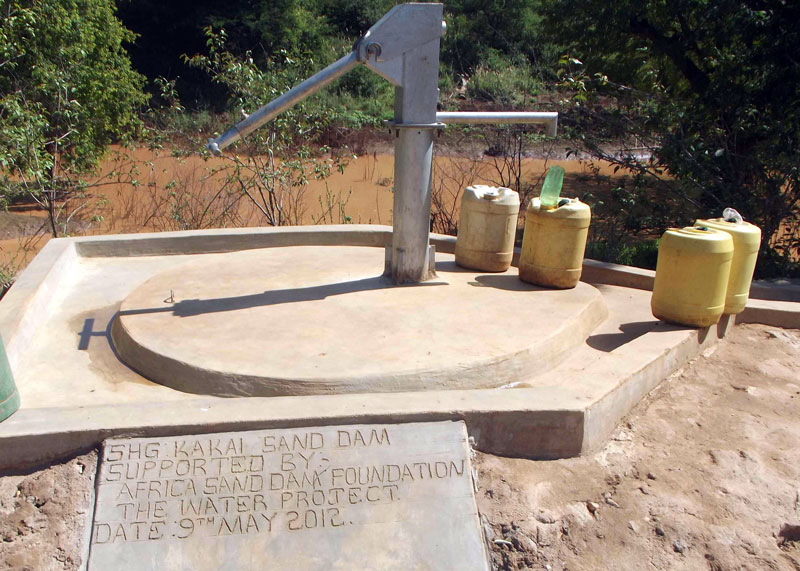 Sand Dams enable shallow wells.