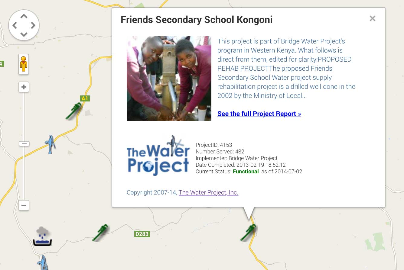 Water Project Map