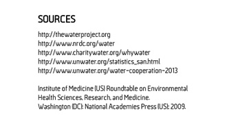 Links to additional research and water statistics