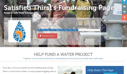 Water Project Fundraising Campaign Page Screenshot
