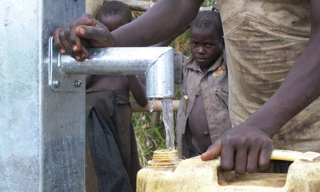 A new well for a community in Kisindi, Uganda
