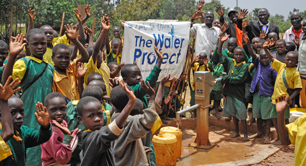 Community with Clean Water in Uganda